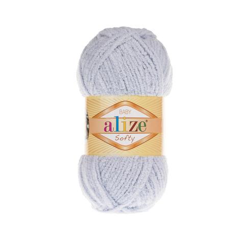 Пряжа Alize Softy серый 416