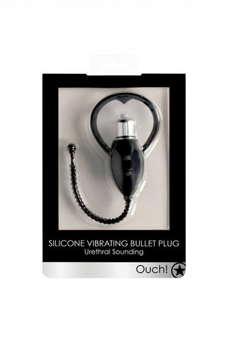 Стимулятор уретры с вибрацией Urethral Sounding Vibrating Bullet Plug