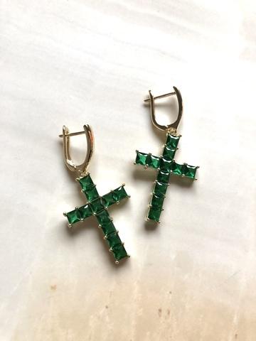 Серьги Лютерана, зеленые