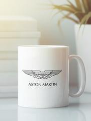 Кружка с рисунком Астон Мартин (Aston Martin) белая 005