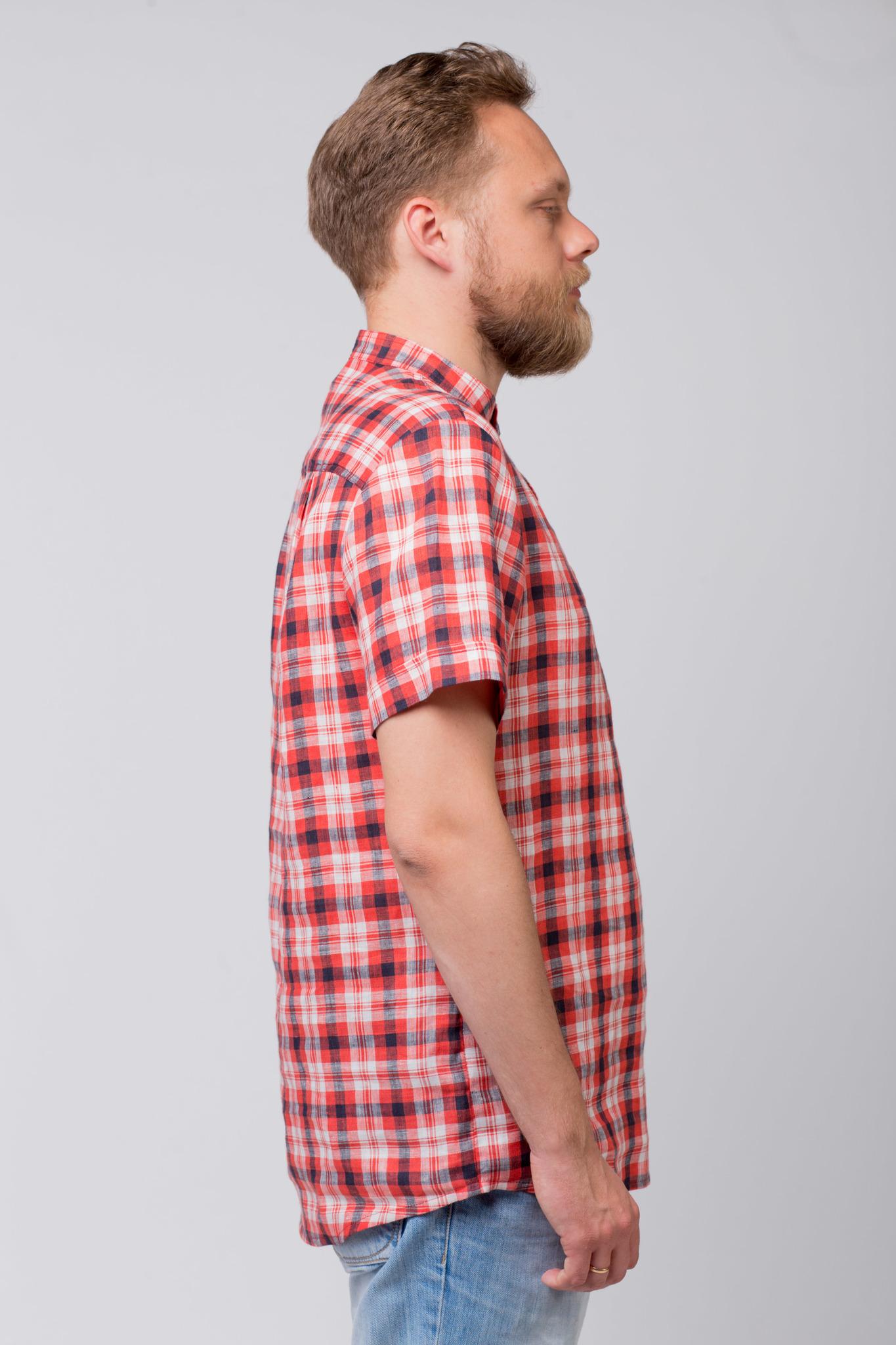 Рубашка льняная Амурская вид сбоку