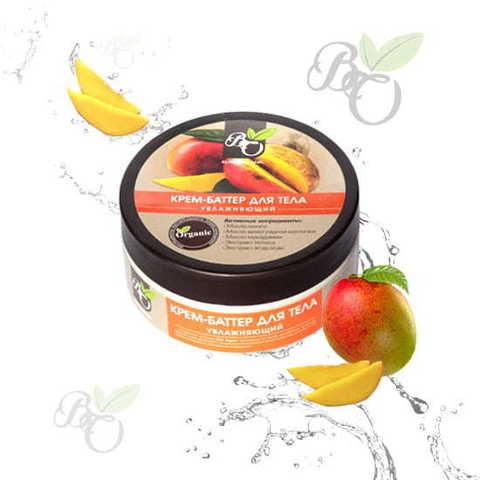 Натуральный крем-баттер для тела «Увлажняющий», Bliss organic 150 мл