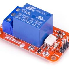 Релейный модуль с опторазвязкой 12В 10A, 1 канал