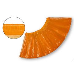Бахилы одноразовые полиэтиленовые текстурированные 2.8 г оранжевые (50 пар в упаковке)