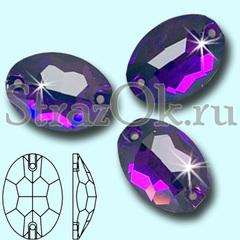Стразы пришивные стеклянные Oval Purple Velvet, Овал Велвет фиолетовые на StrazOK.ru