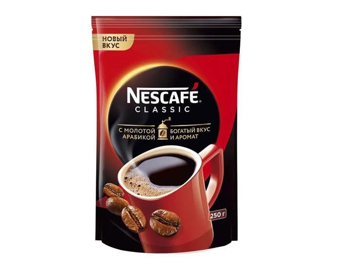 купить Кофе растворимый Nescafe Classic с добавлением молотой арабики, 250 г