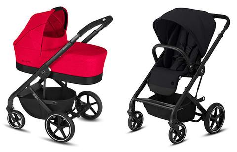 Детская коляска Cybex Balios S Rebel Red + Balios S Lux BLK