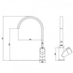 Смеситель KAISER Venera 35044 V для кухни схема