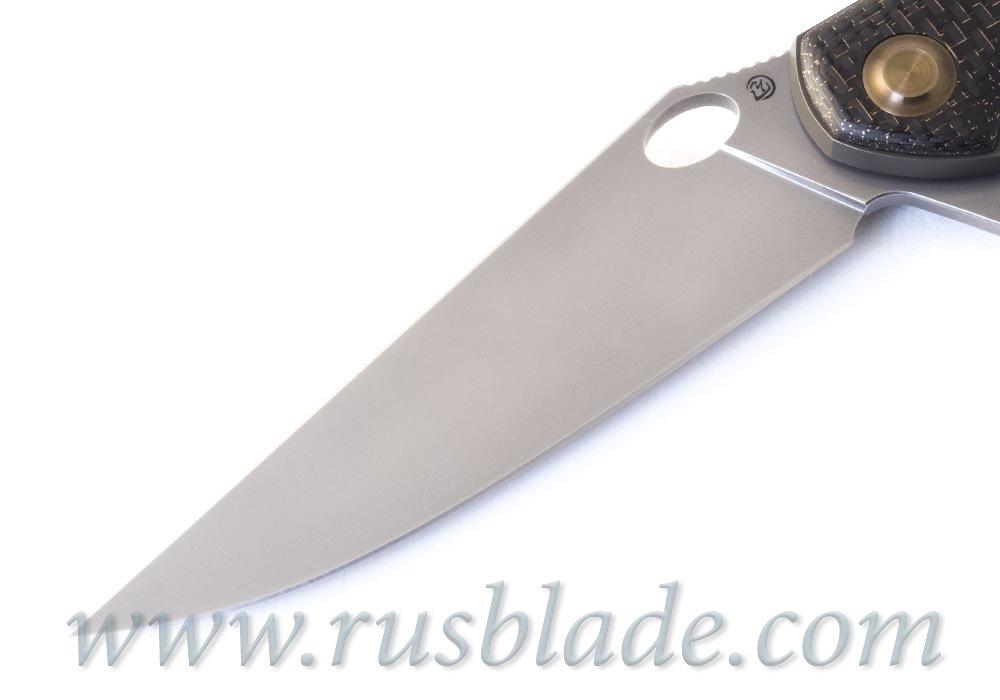Cheburkov Raven S90V Titanium CF Folding Knife - фотография