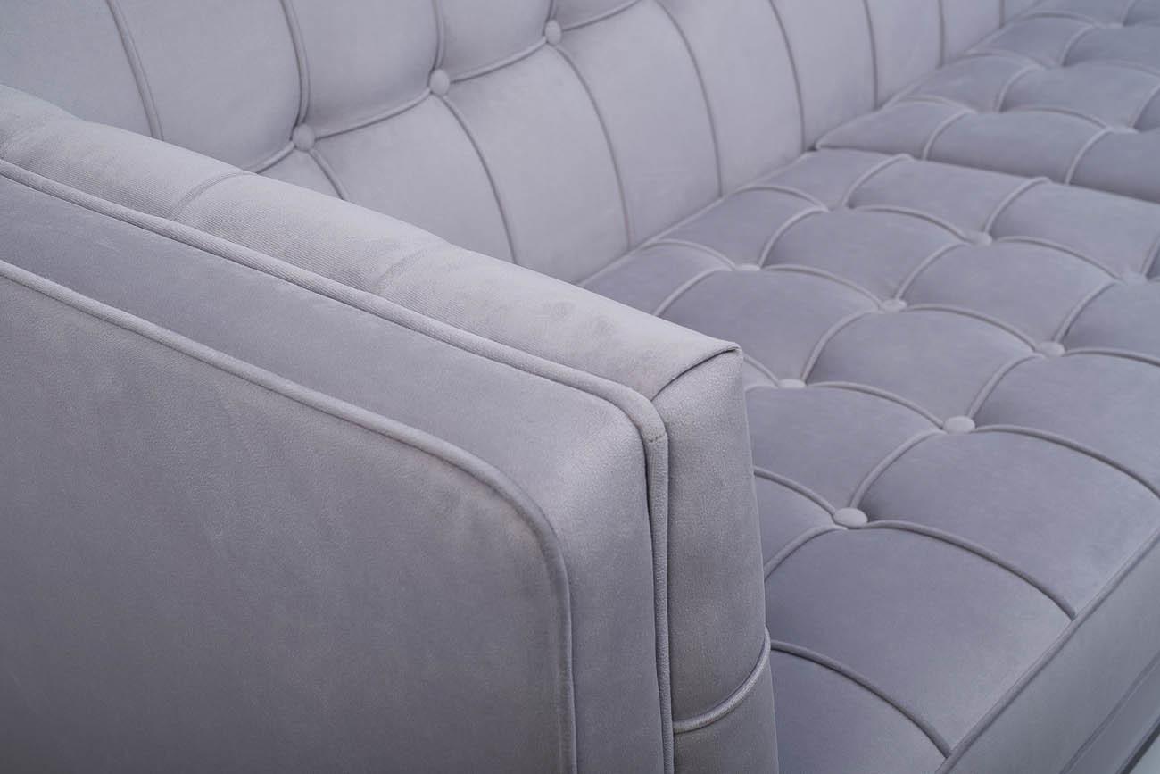 Диван Palermo трехместный pаскладной серый (PALERMO1K-СЕР-Vel49) Garda Decor