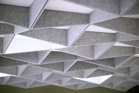 Акустический потолок Бикубик полиэфирная панель
