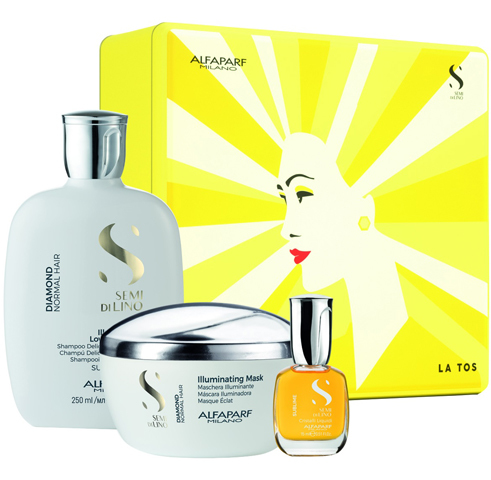 Alfaparf Milano Наборы: Набор для волос SDL Holiday 2020 Diamond (шампунь + маска + масло), 250мл+ 200мл+ 15мл