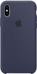 Клип-кейс Apple Silicone Case для iPhone X (темно-синий)