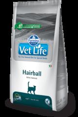 Ветеринарный корм для кошек, FARMINA Vet Life Hairball, для выведения комочков шерсти из кишечника