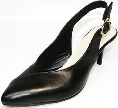 Женские туфли летние Kluchini 5190 Black.