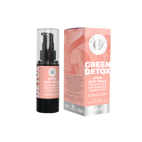 МДП Крем для лица Green Detox Активная защита для сухой и чувствительной кожи, 25г