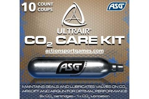Баллоны CO2 ASG ULTRAIR 12гр. (9+1) Для пневматики и страйкбола