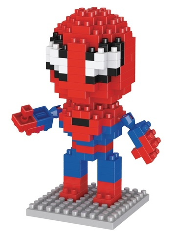 Конструктор Wisehawk & LNO Человек-паук 160 деталей NO. 023 Spider-man Gift Series