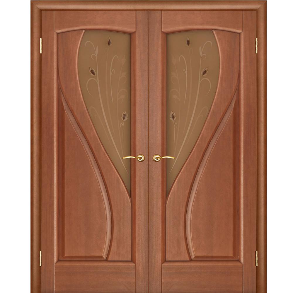 Решения Межкомнатная дверь распашная двустворчатая шпон Legend Мария тёмный анегри остеклённая mariya-temniy-anegri-por-dvertsov.jpg