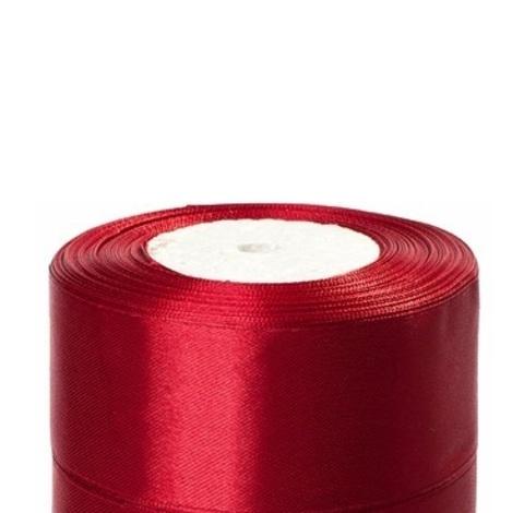 Лента атласная (размер:40мм х 25 ярдов) Цвет:бордовый