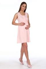 Мамаландия. Сорочка для беременных и кормящих с кнопками, розовый вид 3