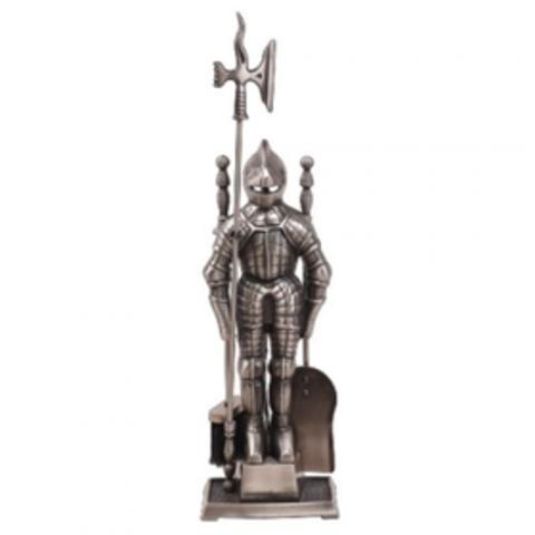 Каминный набор D50011АВ (К3050А) (рыцарь, античная латунь)