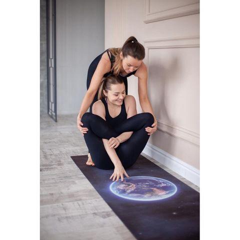 Коврик для йоги Планета из микрофибры и каучука