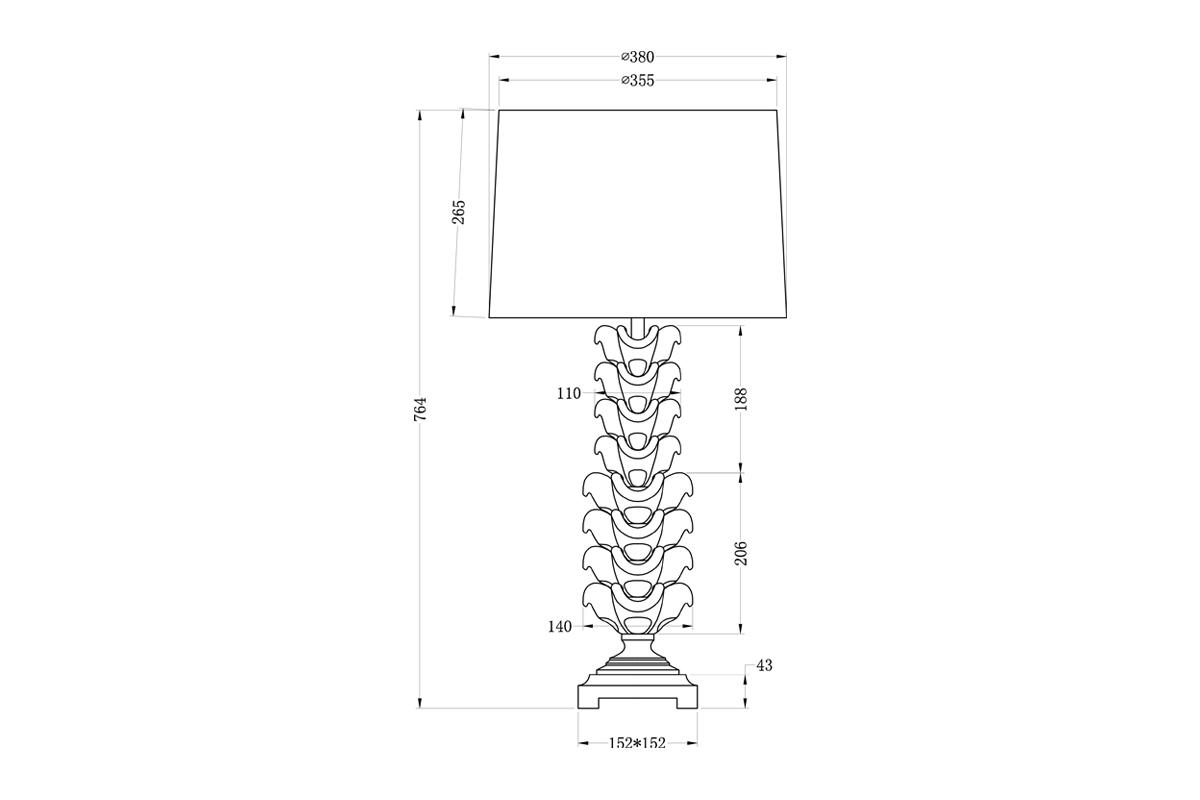 22-87508 Лампа настольная плафон св-коричневый d38*78 (2)