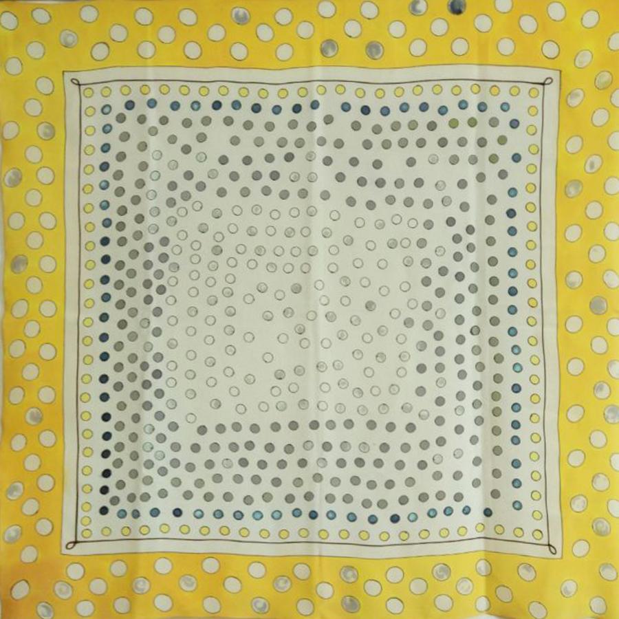 Шелковый платок батик В Горошек С-61