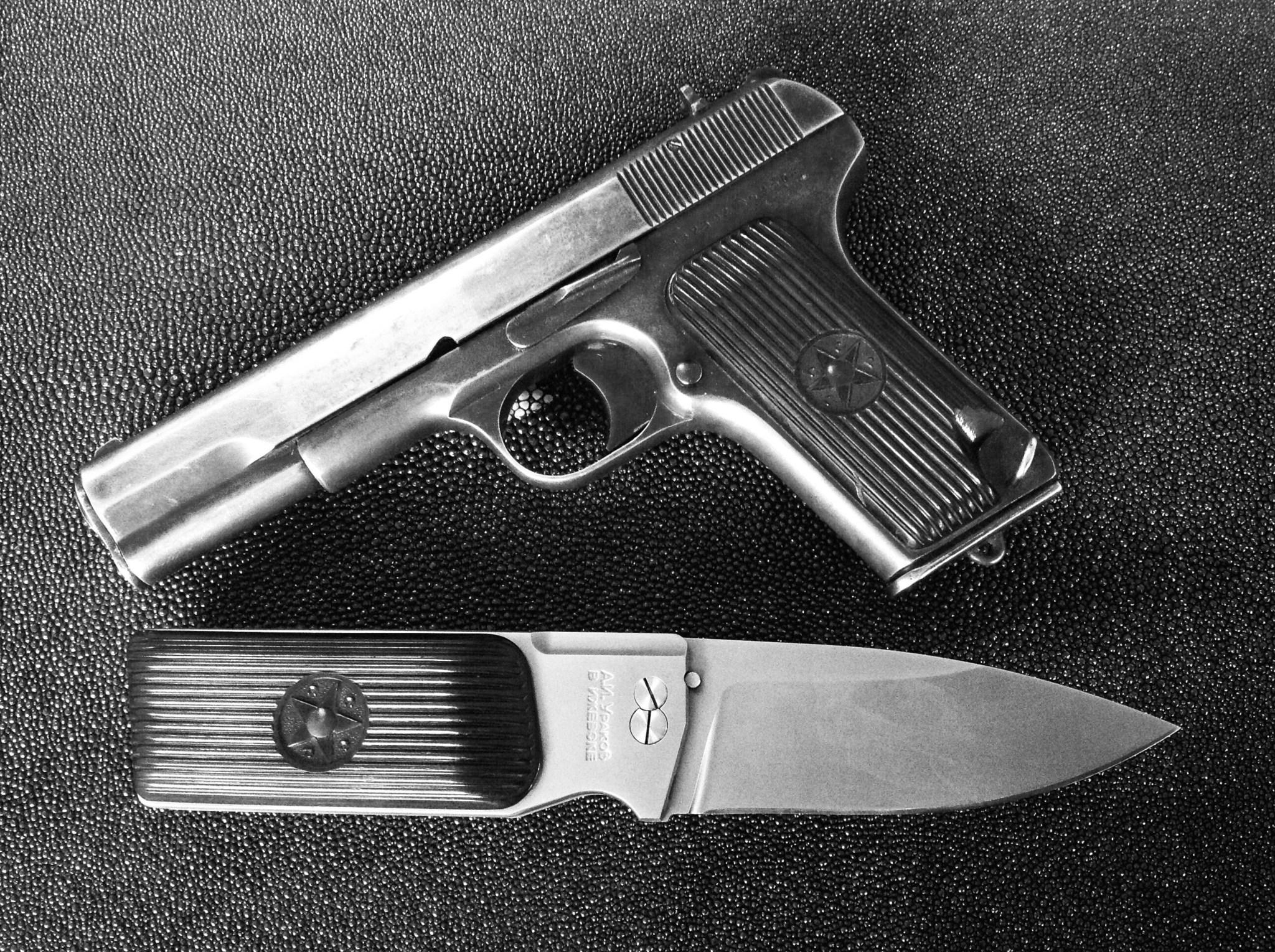 Custom Urakov TT33 M390 steel Folding knife - фотография