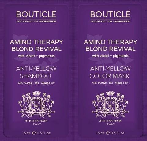 Пробник шампунь Anti-Yellow Shampoo/восстанавливающая маска Anti-Yellow Color Mask 15+15мл