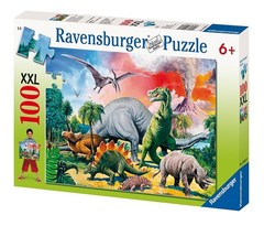 Puzzle Among the Dinosaurs 100 pcs