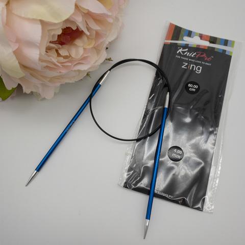 Спицы круговые KnitPro Zing 60 см № 4.0