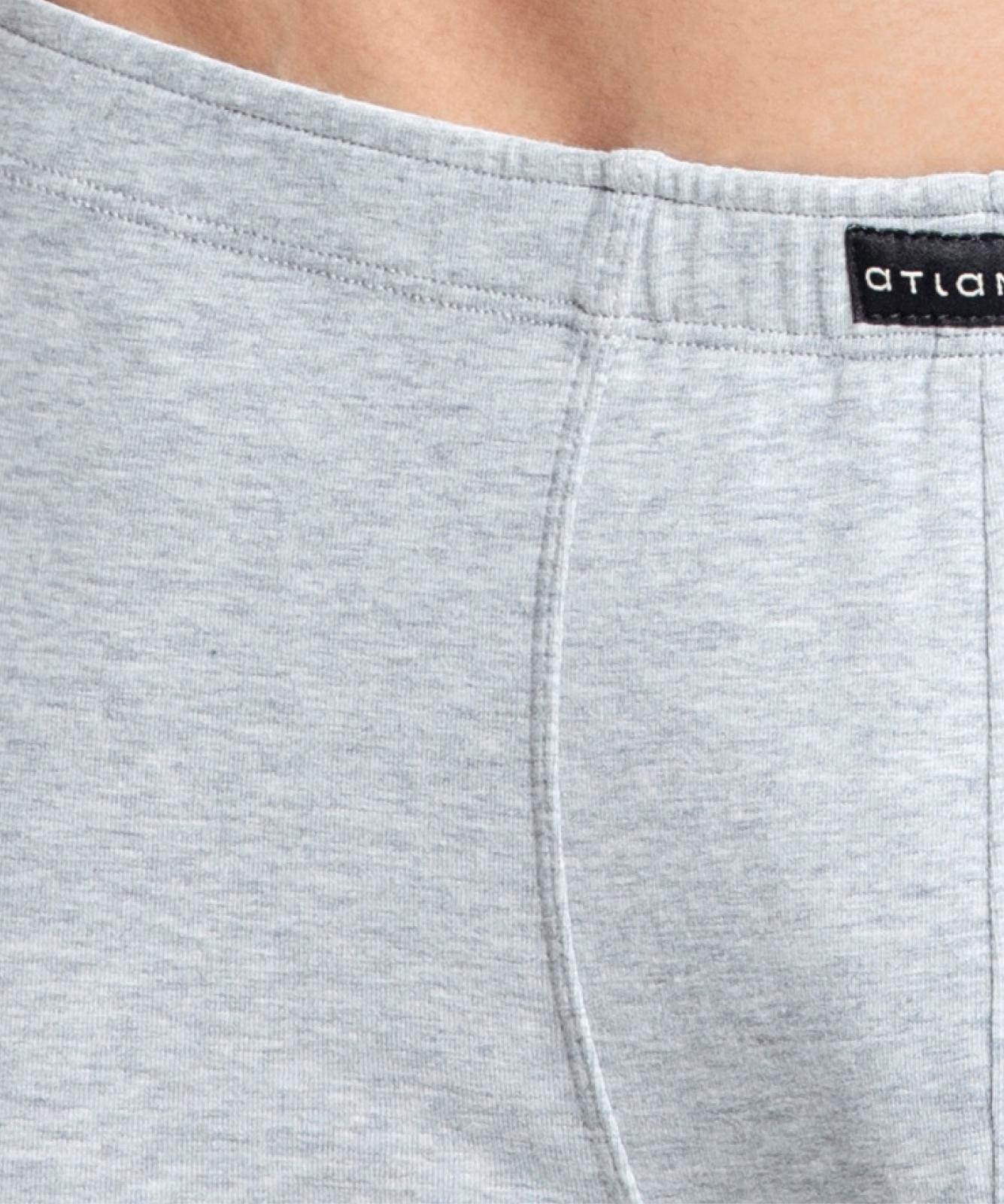 Мужские трусы шорты Atlantic, набор из 3 шт., хлопок, деним + серый меланж + темно-синие, 3MH-017