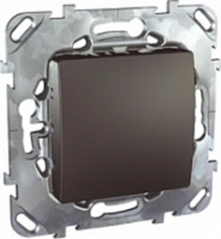 Выключатель одноклавишный промежуточный - Перекрестный переключатель. Цвет Графит. Schneider electric Unica Top. MGU5.205.12ZD