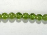 Бусина из перидота, шар гладкий 7 мм