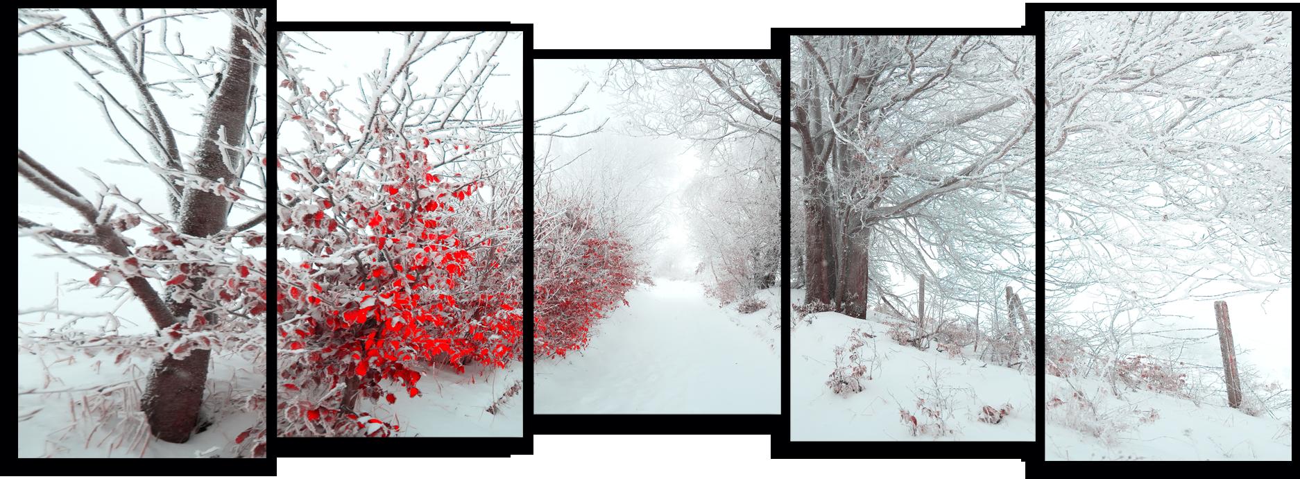 """Природа Модульная картина """"Зима в деревне"""" М786.png"""