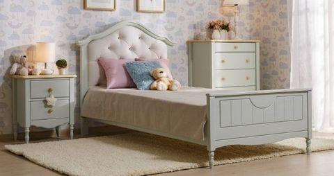 Спальня Айно 2 (голубая пастель/бесцветный лак)
