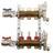 Коллекторы Stout SMB 0473 с расходомерами в сборе из латуни