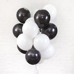 Букет из 15 шаров (Белый и Черный)