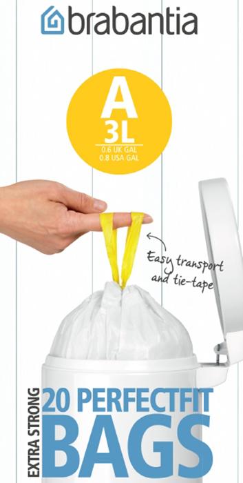 Мешки для мусора PerfectFit, размер А (3 л), рулон, 20 шт., арт. 311727 - фото 1