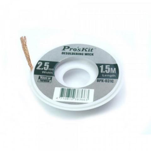 Оплетка для удаления припоя (Олова) Pro'sKit 8PK-031B Desoldering Wick 2.0mm