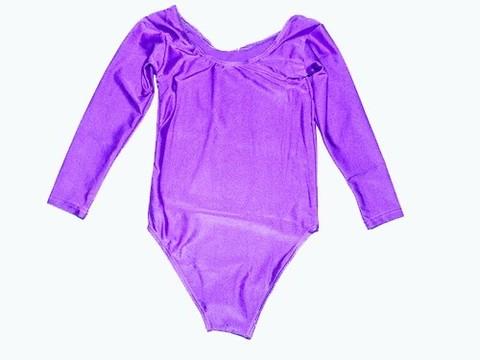 Купальник гимнастический. Состав: полиэстер. Размер S. Цвет фиолетовый. :(2014):