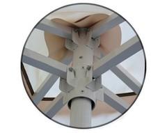 Зонт 3,0х3,0 м с воланом (стальной каркас с подставкой, тент OXF 300D) ПК