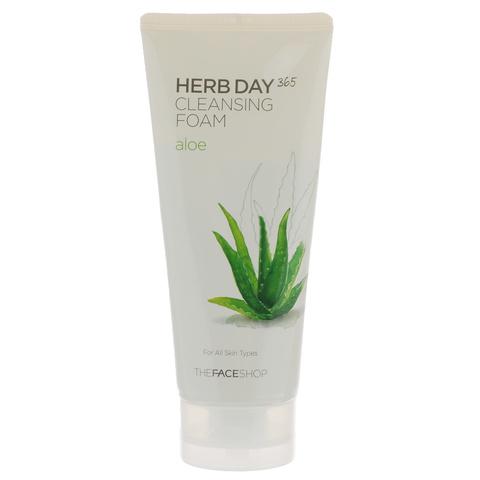The Face Shop Пенка для умывания с алое Herb Day 365 Aloe Cleansing Foam 170 мл.