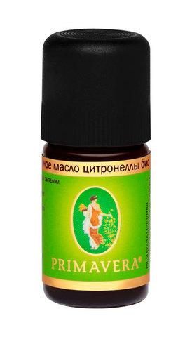 PRIMAVERA LIFE Эфирное масло цитронеллы био, 5мл