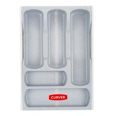 Лоток для столовых приборов раздвижной серый (05752-845)