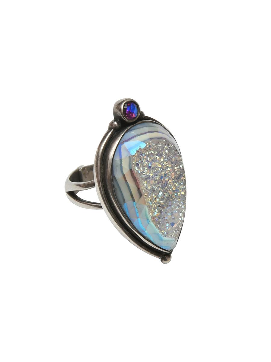 Необычное серебряное кольцо от Sajen