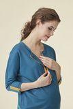 Туника для беременных и кормящих 07236 темно-бирюзовый