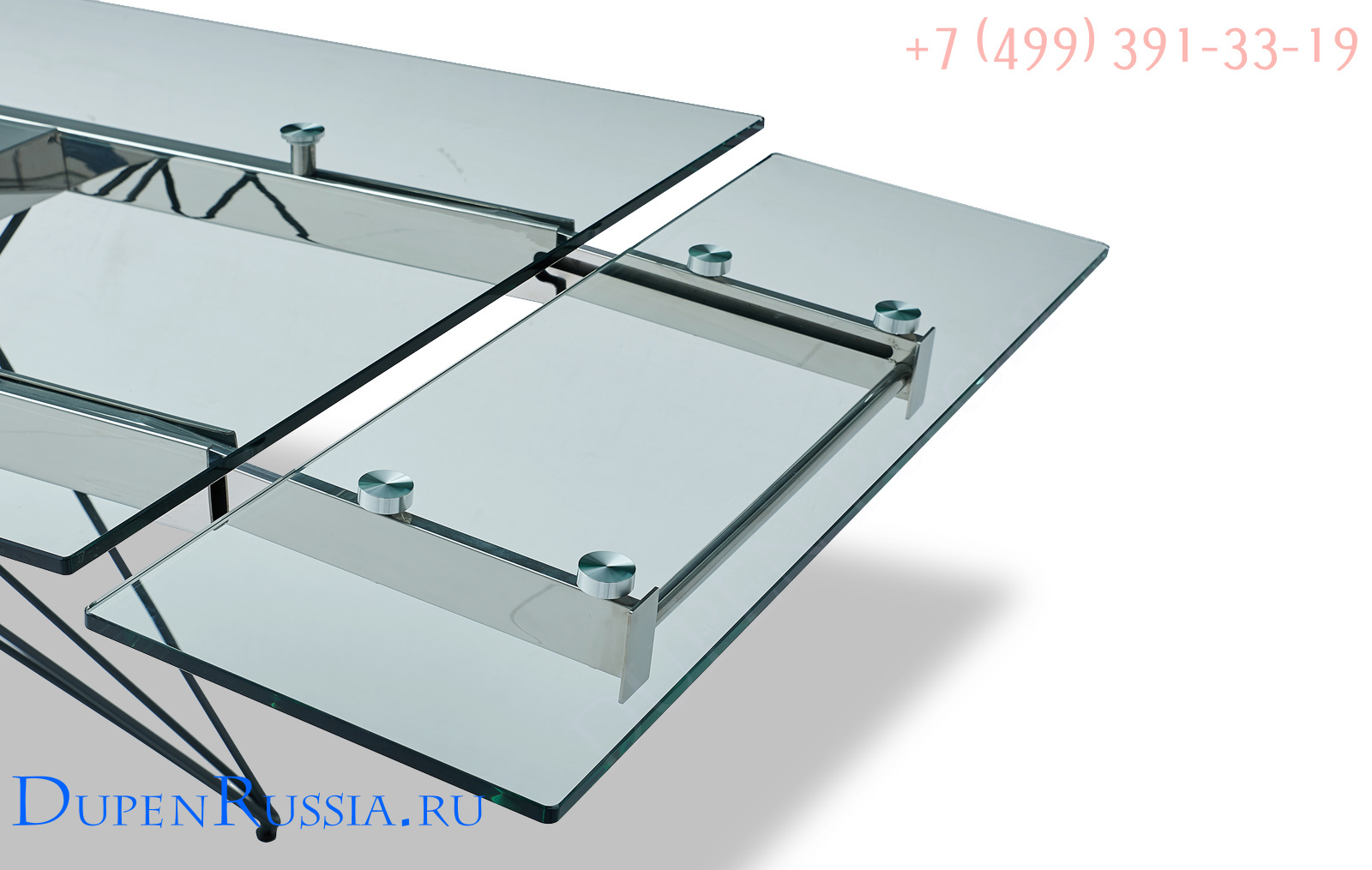 Стол ESF T041 прозрачный (элемент раскладки)